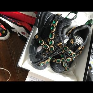 Gucci Sneakers With Removable Crystals